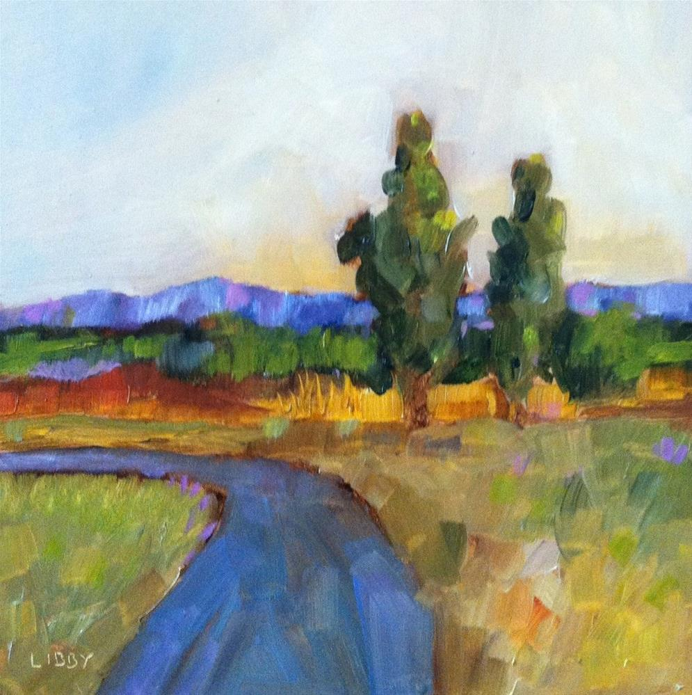"""""""Road to Tuscany"""" original fine art by Libby Anderson"""