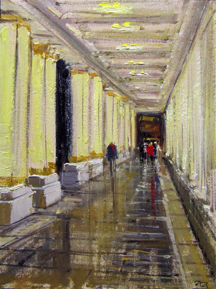 """""""The Podium Porches, Bath"""" original fine art by Adebanji Alade"""