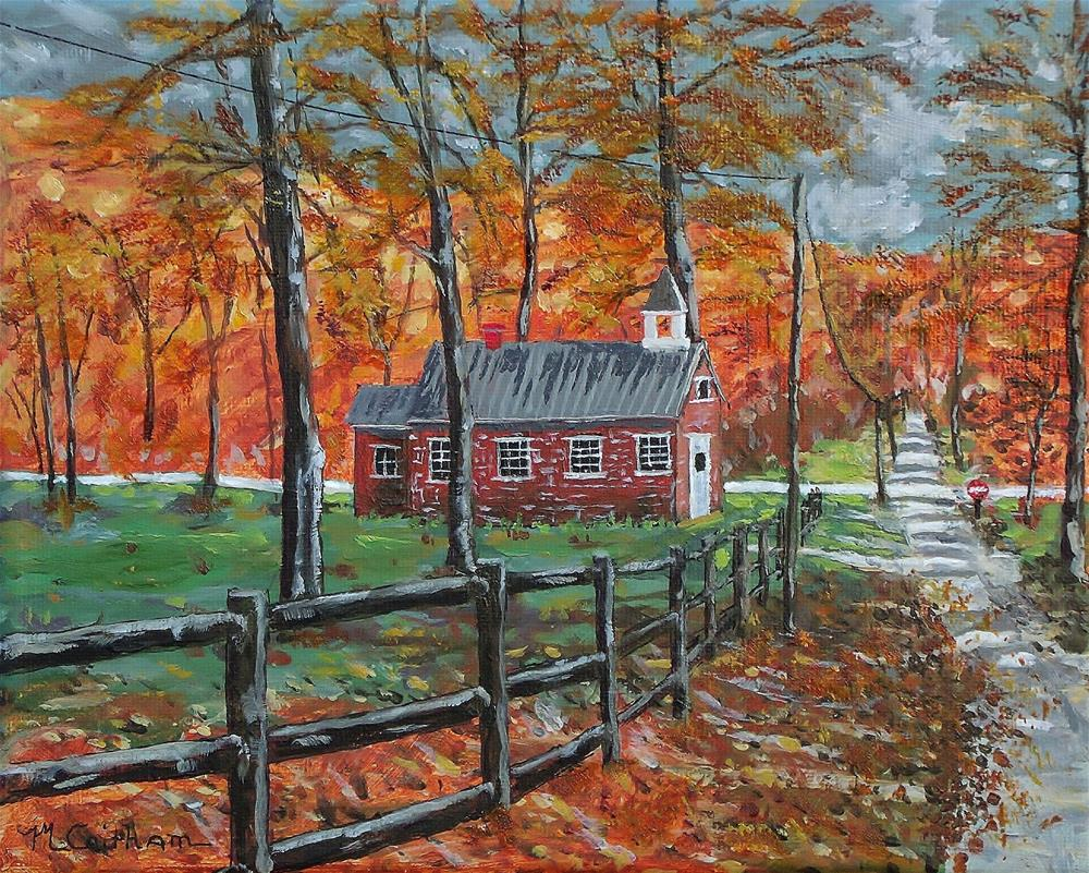 """""""The Brick Country School"""" original fine art by Mike Caitham"""