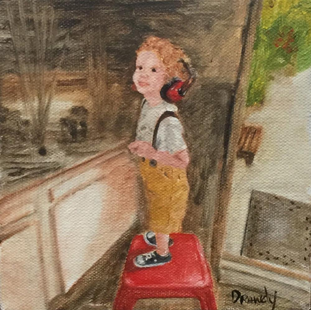 """""""Boy With Headphones"""" original fine art by Stephanie Drawdy"""