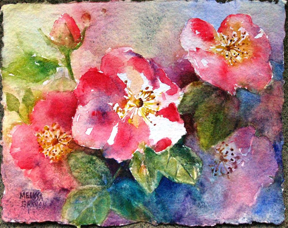 """""""First of the Roses"""" original fine art by Melissa Gannon"""