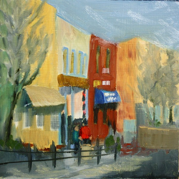 """Main Street"" original fine art by Jane Frederick"