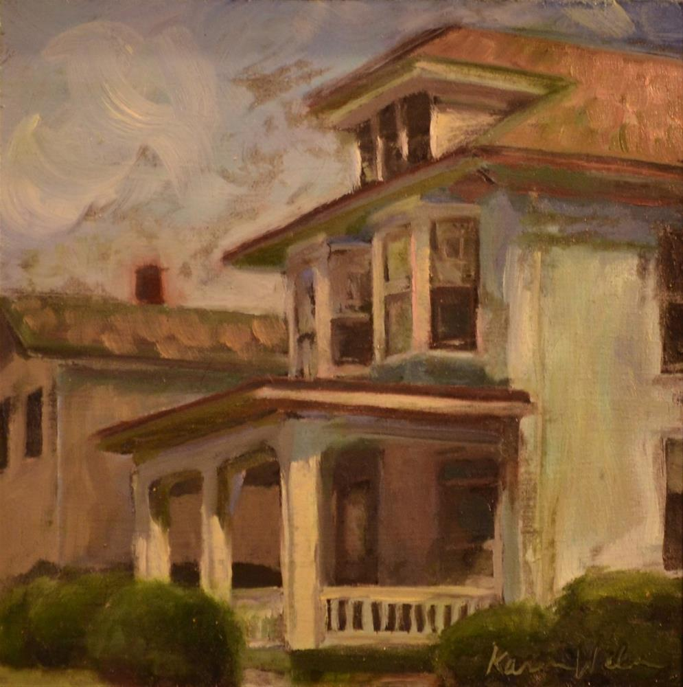 """White House in Fleetwood"" original fine art by Karen Weber"