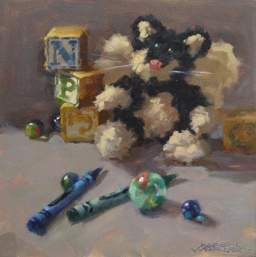 """""""Angel Kitty"""" original fine art by Karen Werner"""