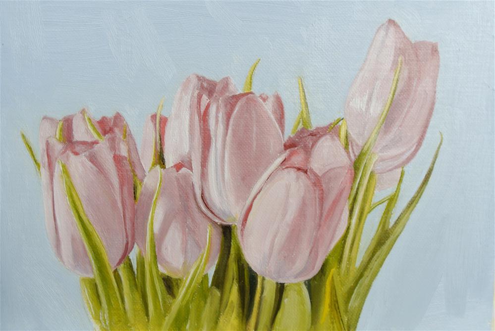 """Tulips"" original fine art by James Coates"