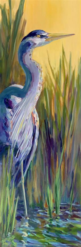 """Heron Impressions"" original fine art by Melissa Gannon"
