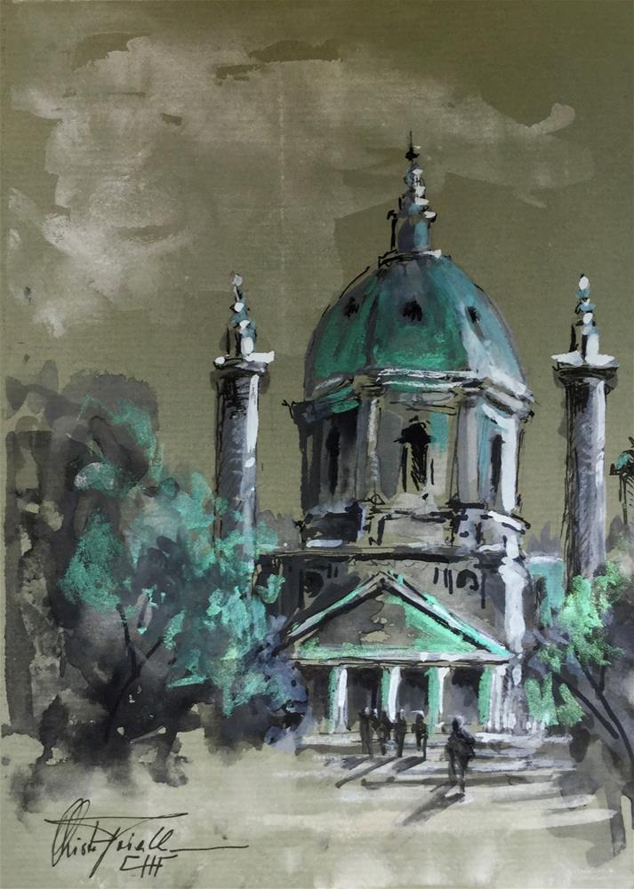 """St. Charles Church, Vienna"" original fine art by Christa Friedl"