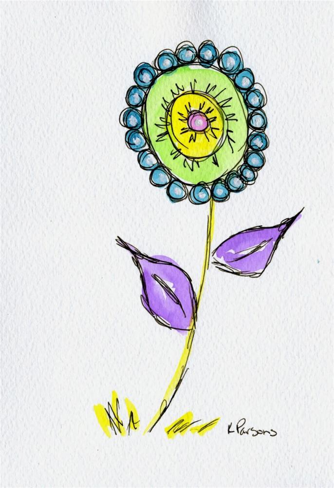 """Purple Leaves"" original fine art by Kali Parsons"