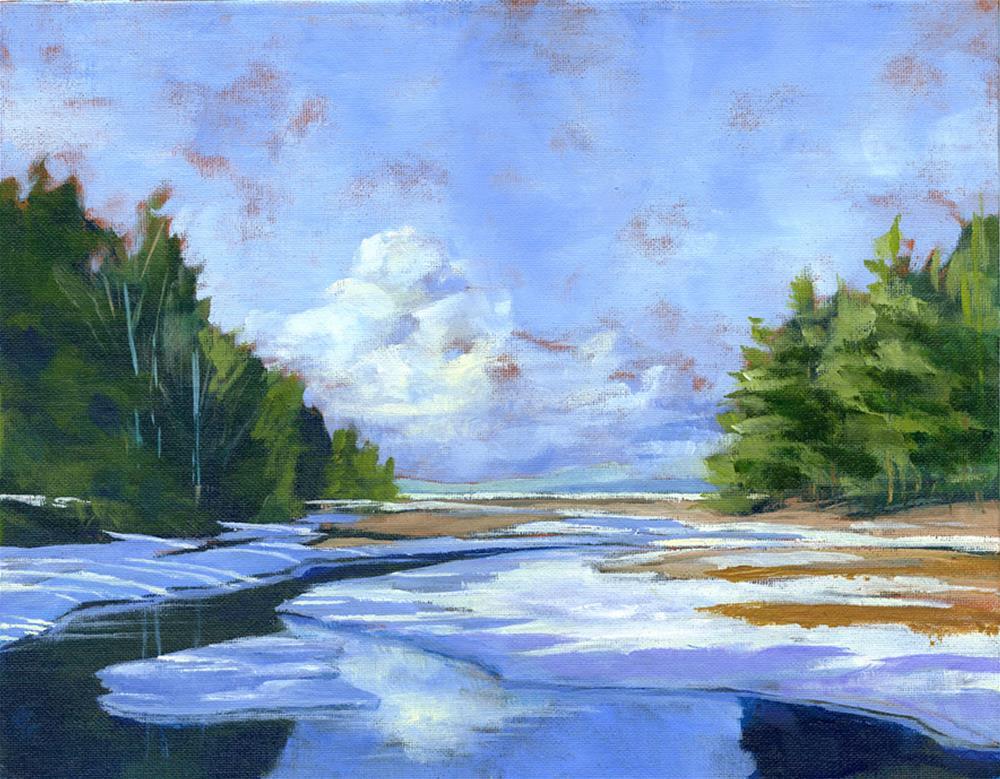 """""""River View 11x14"""" original fine art by Eileen Hennemann"""