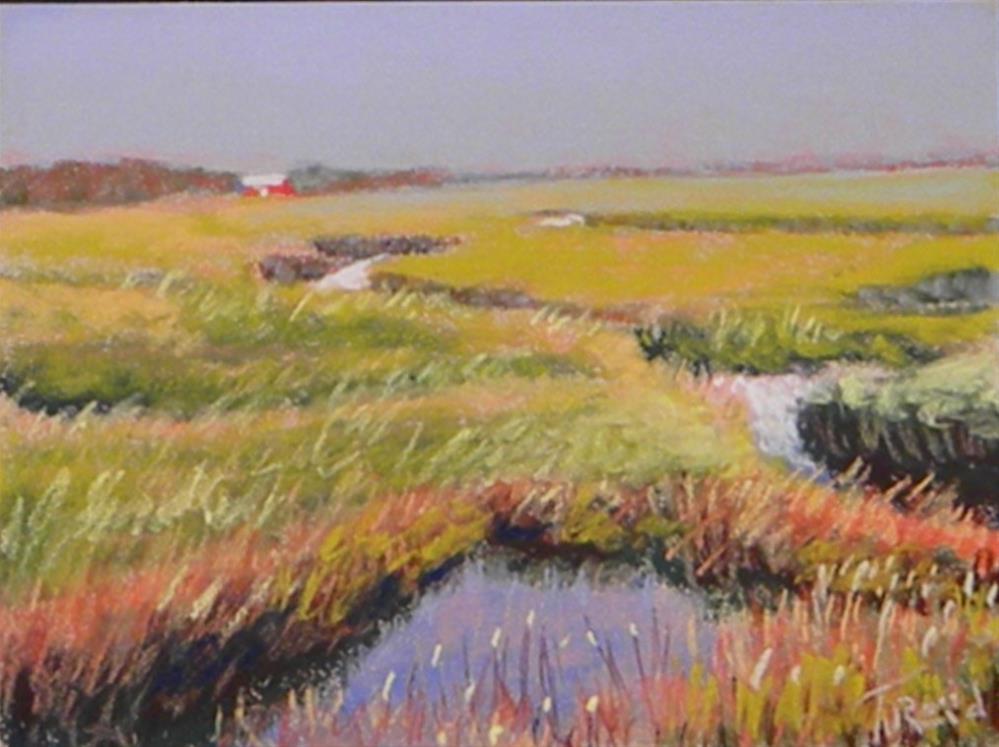 """Distant marsh house"" original fine art by Toby Reid"