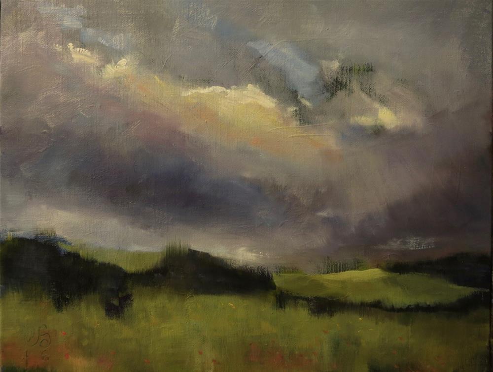 """Evening at Saint Cloud"" original fine art by Aurelio Saiz"