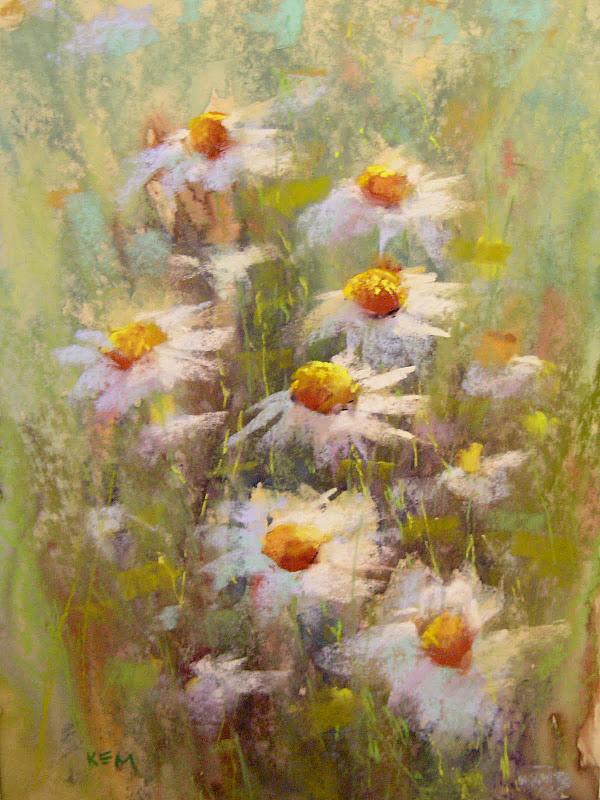 """Top Paintings of 2011 ....#3  Daisies"" original fine art by Karen Margulis"