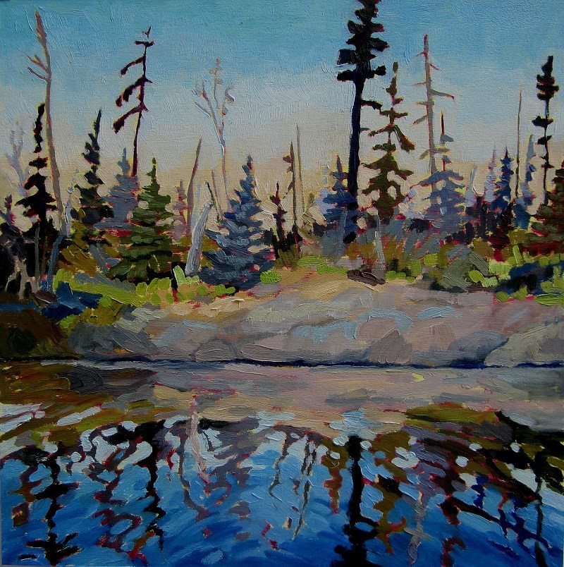"""Calm Day, Sulphide Lake"" original fine art by Nicki Ault"