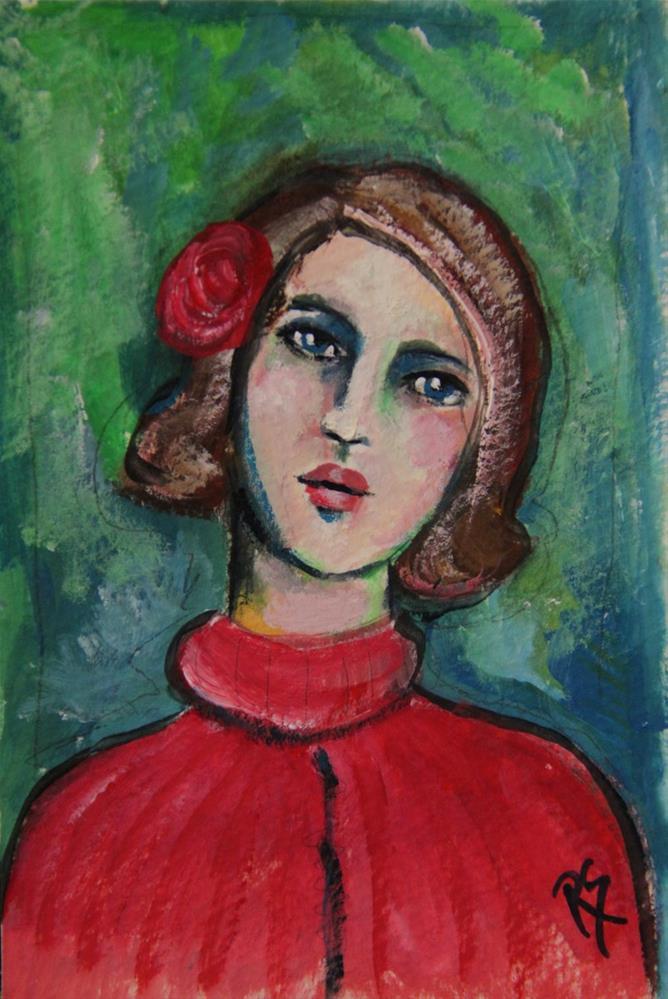 """""""Naomi"""" original fine art by Roberta Schmidt ArtcyLucy"""