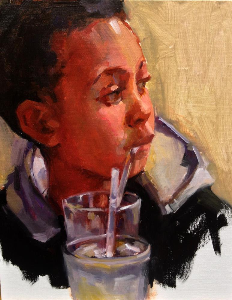 """Distracted"" original fine art by Laurie Johnson Lepkowska"
