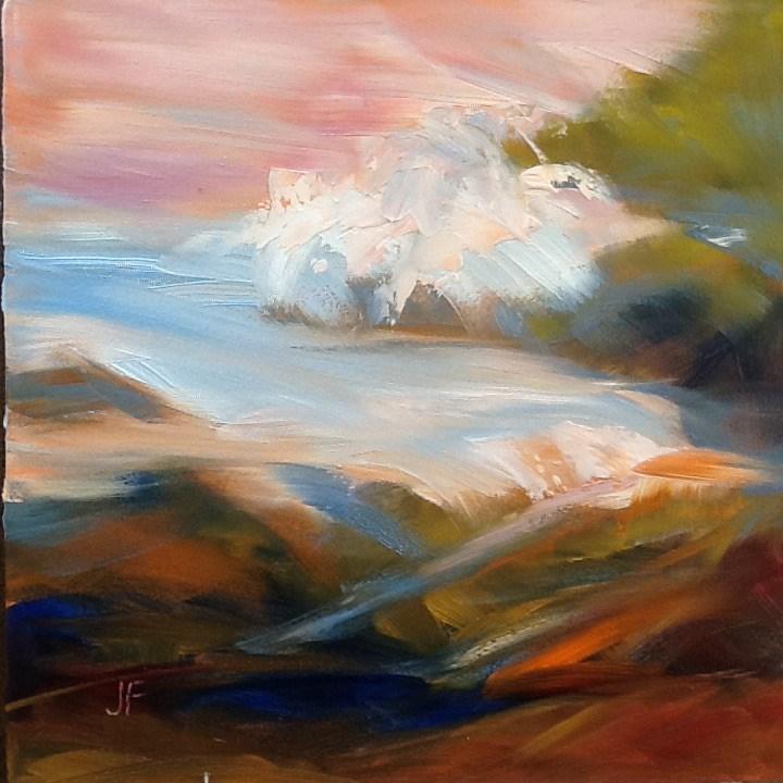 """Surf"" original fine art by Charlotte Fitzgerald"