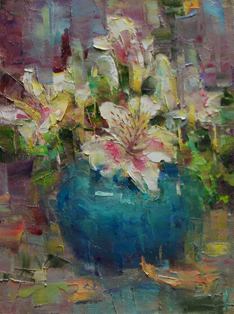 """""""Flowers - On The Shelf #5"""" original fine art by Julie Ford Oliver"""