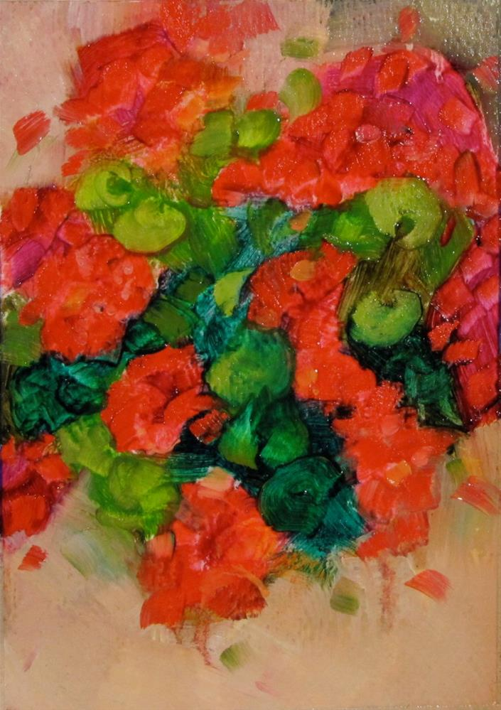 """Loosley Geraniums"" original fine art by Christine Holzschuh"