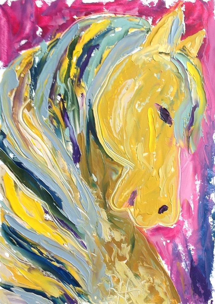 """Carousel #1"" original fine art by Rachel  Holland"