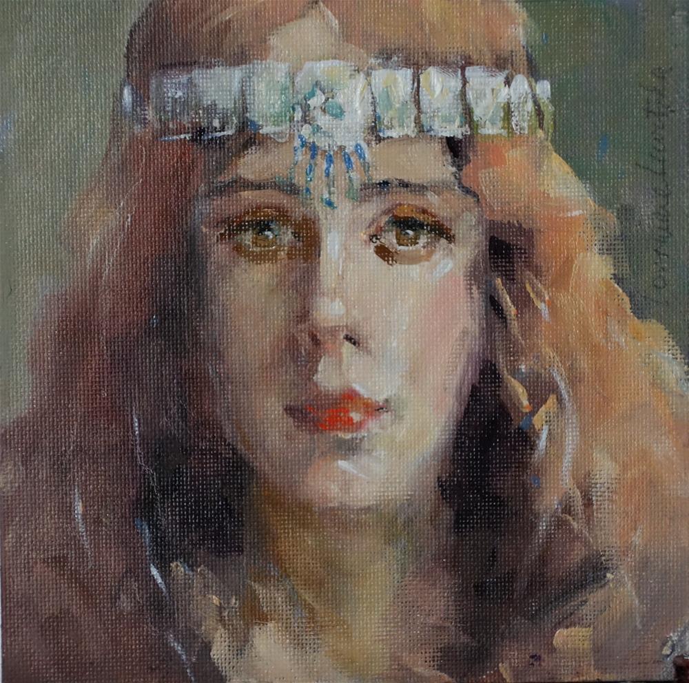 """Bohemian"" original fine art by Lorraine Lewitzka"