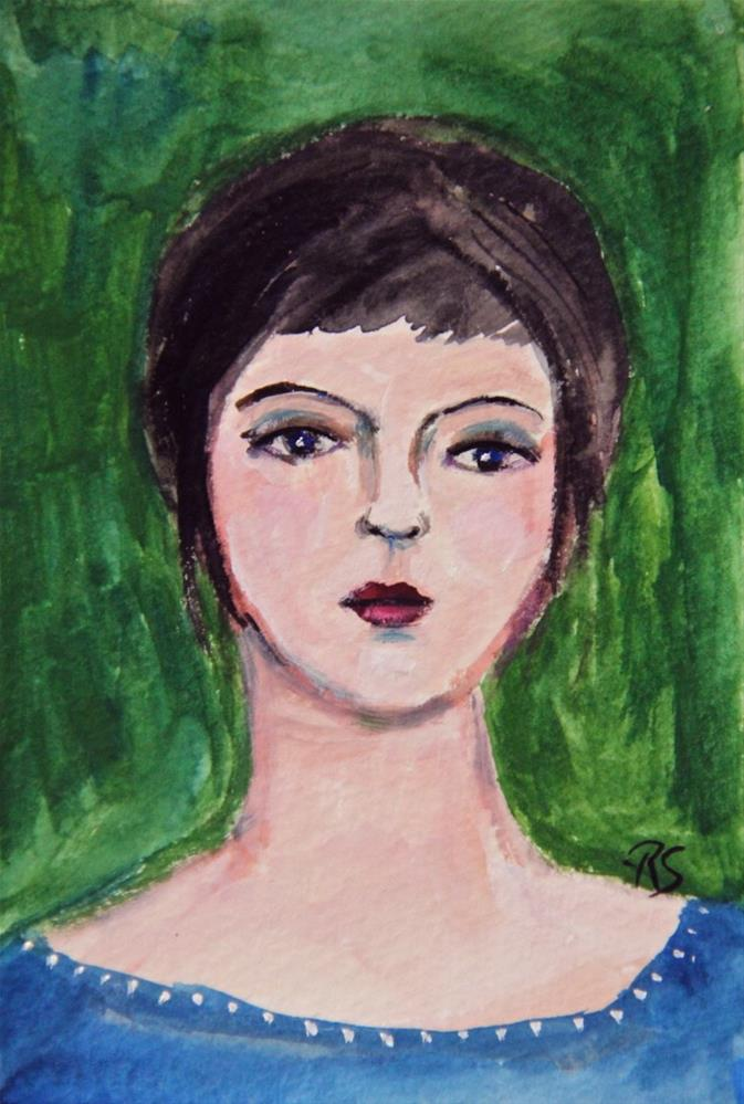 """Amanda"" original fine art by Roberta Schmidt"