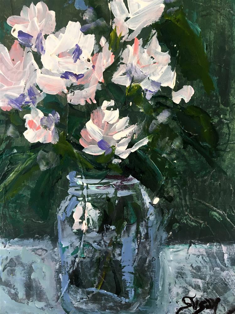 """Textured Roses"" original fine art by Susan Elizabeth Jones"