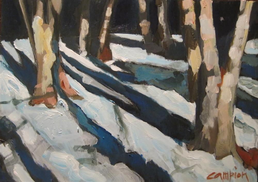 """""""286.  Deeper In"""" original fine art by Diane Campion"""