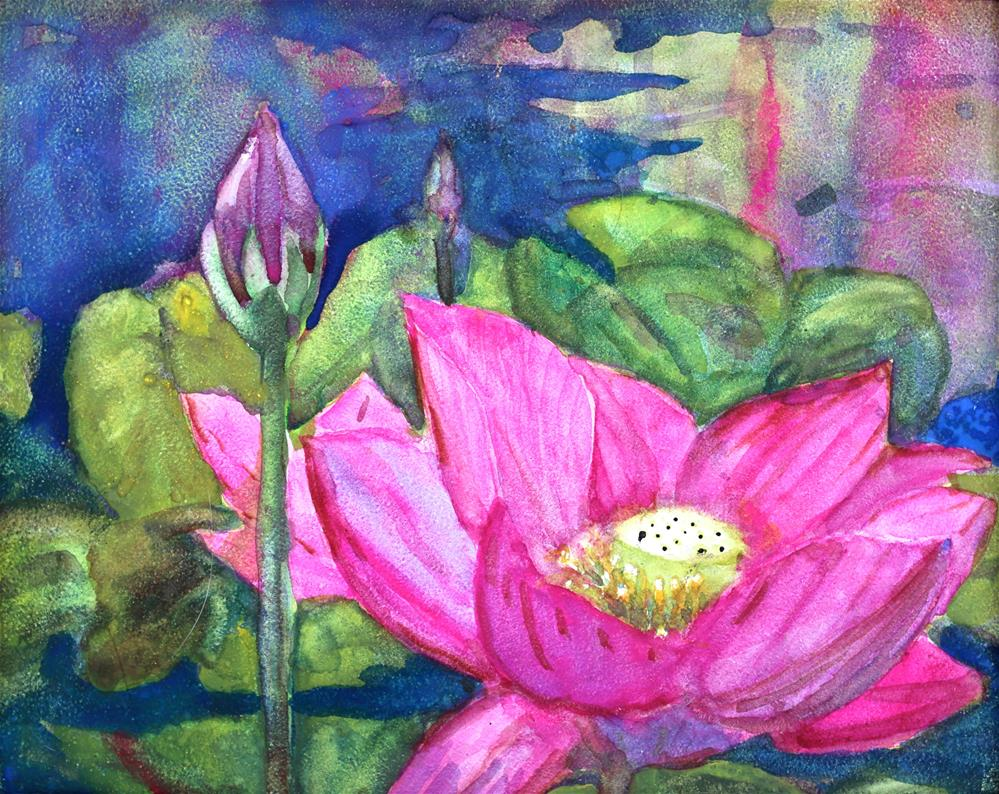 """""""Water Lilly"""" original fine art by Michael Saunders"""