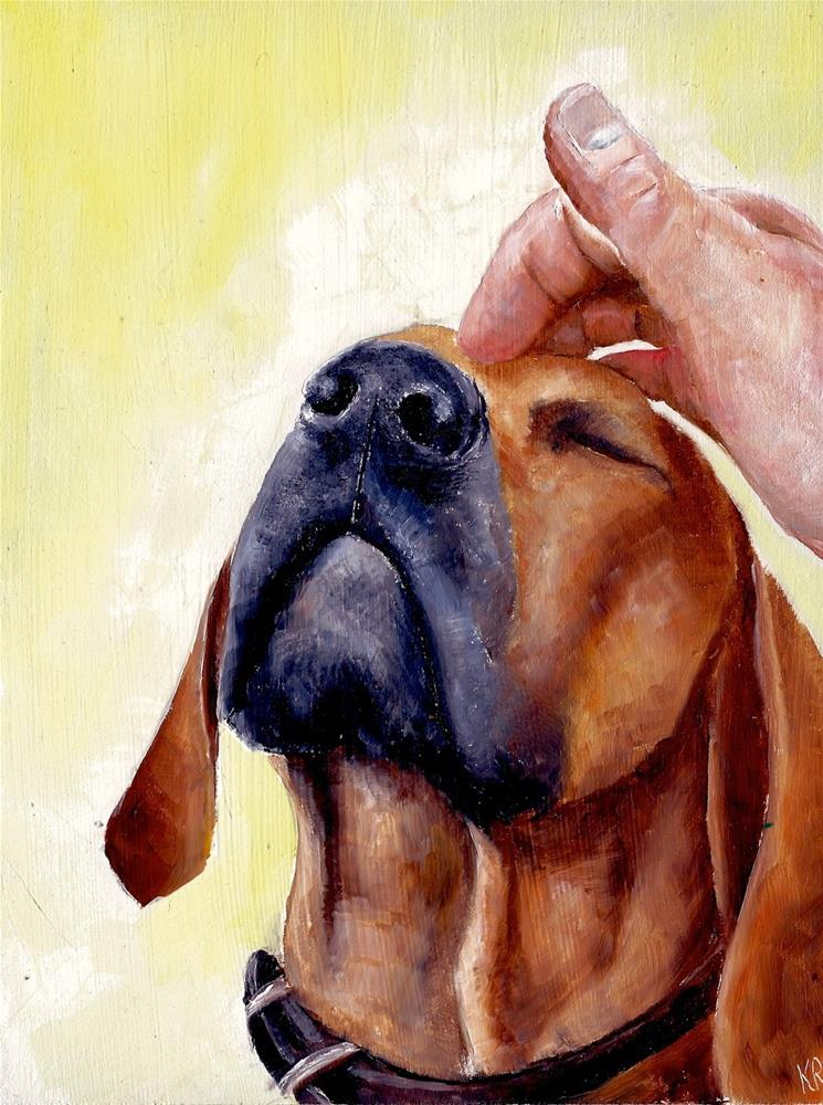 """More, please…."" original fine art by Karen Robinson"