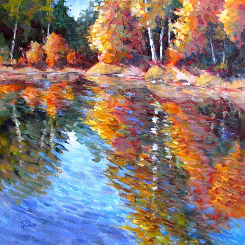 """Changing Seasons Reflections"" original fine art by Melissa Gannon"