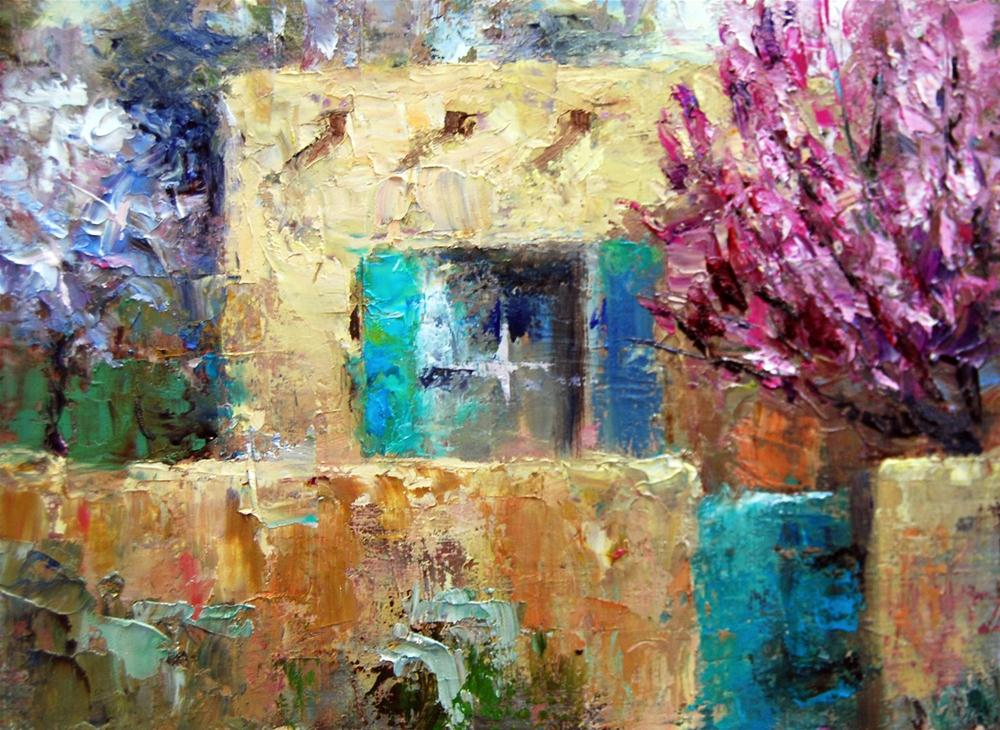 """Spring Blossoms, New Mexico"" original fine art by Julie Ford Oliver"