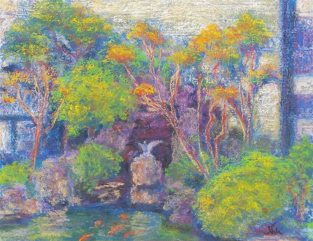 """Kabuki Koi Pond"" original fine art by Niki Hilsabeck"