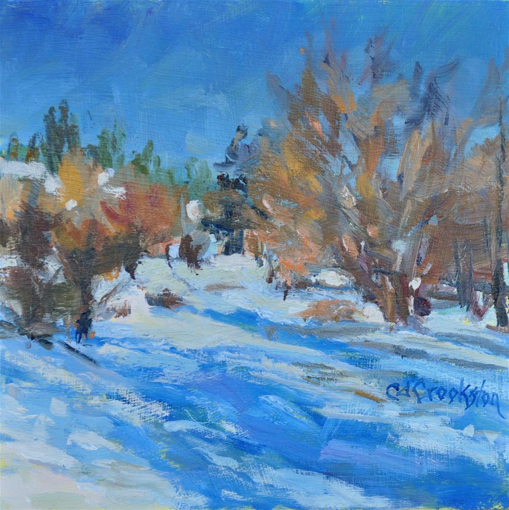 """snow challenge"" original fine art by Catherine Crookston"