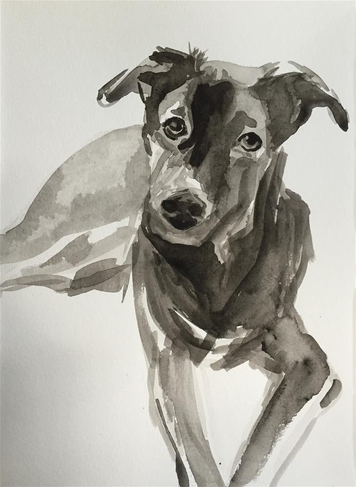"""inky"" original fine art by Cindy McDonough"