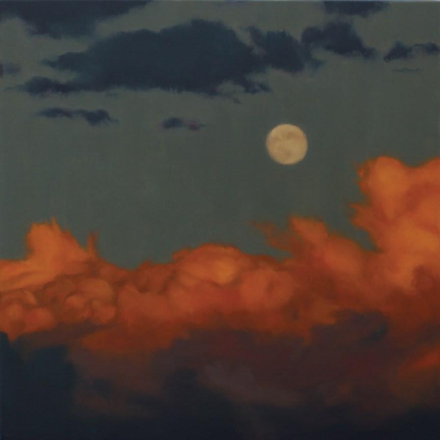 """""""Sunset Moon"""" original fine art by Pamela Poll"""