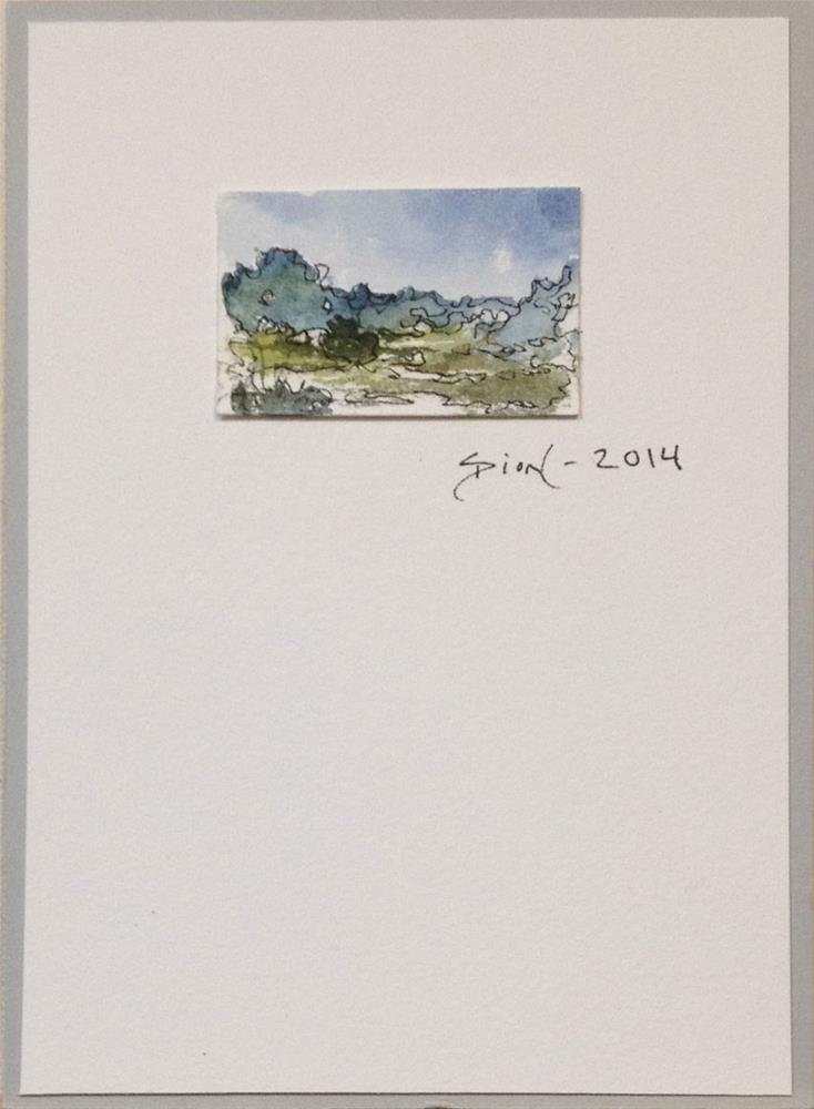 """Miniature Landscape #6"" original fine art by Sue Dion"