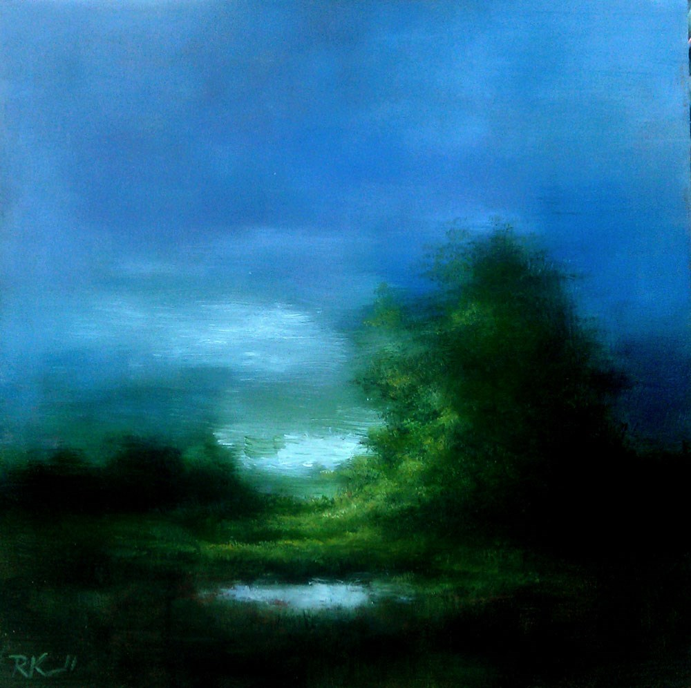 """A Small Pond"" original fine art by Bob Kimball"