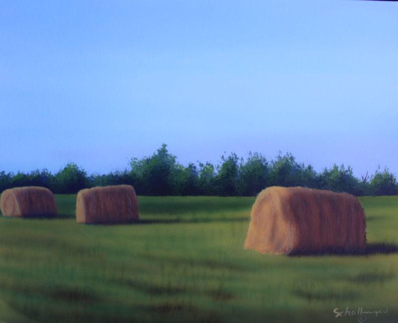 """Tower Field (Late evening)"" original fine art by Fred Schollmeyer"