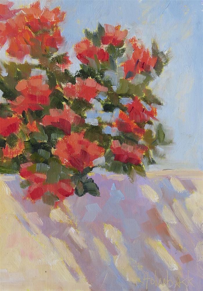 """Garden Wall Shadow"" original fine art by Pam Holnback"