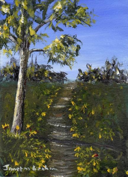 """Summer Pathway ACEO"" original fine art by Janet Graham"