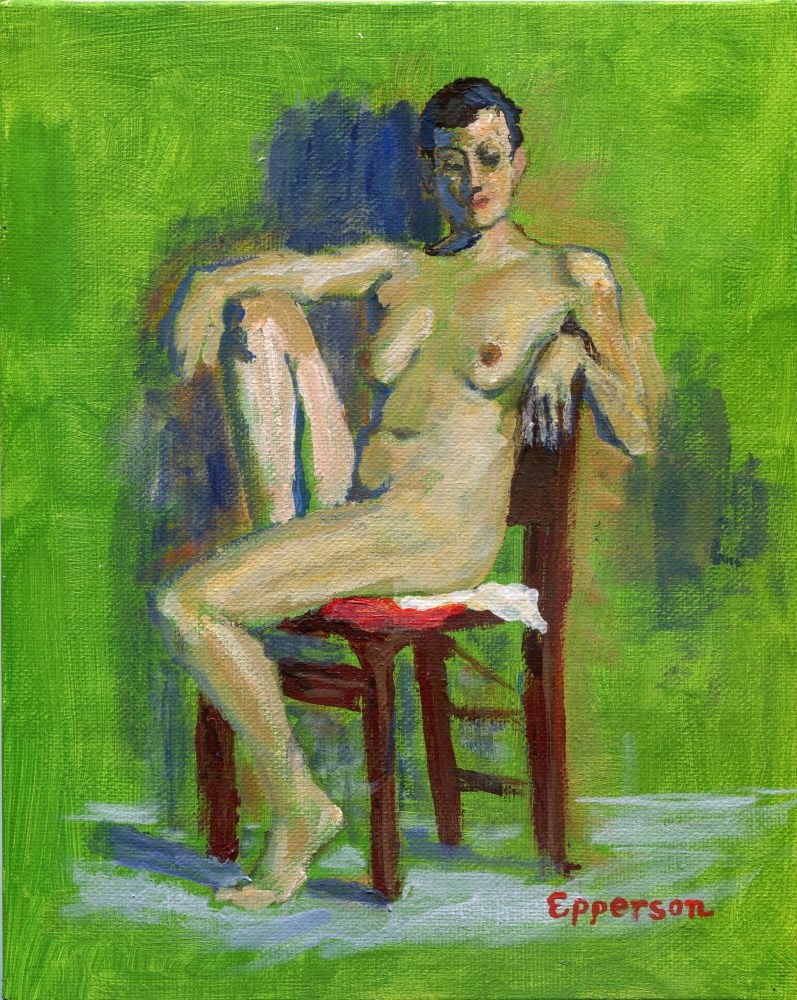 """The Green Room"" original fine art by Stanley Epperson"
