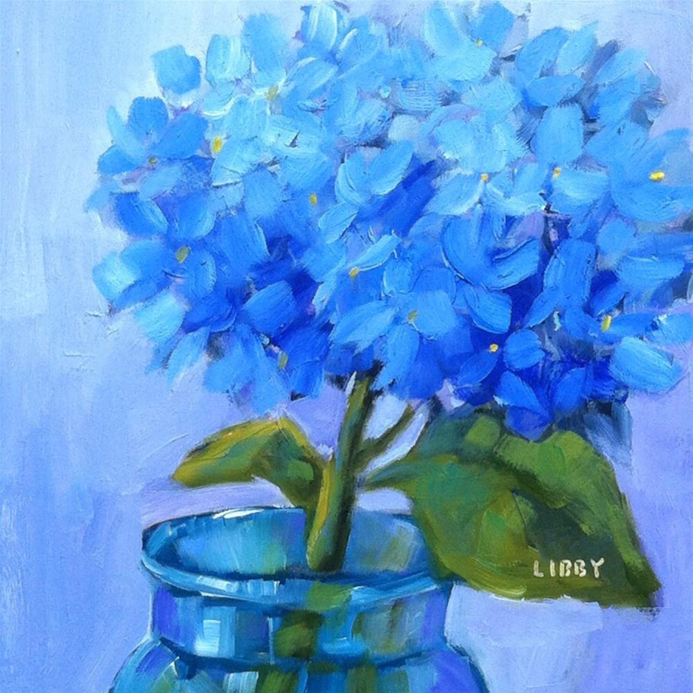 """""""Blue for One"""" original fine art by Libby Anderson"""