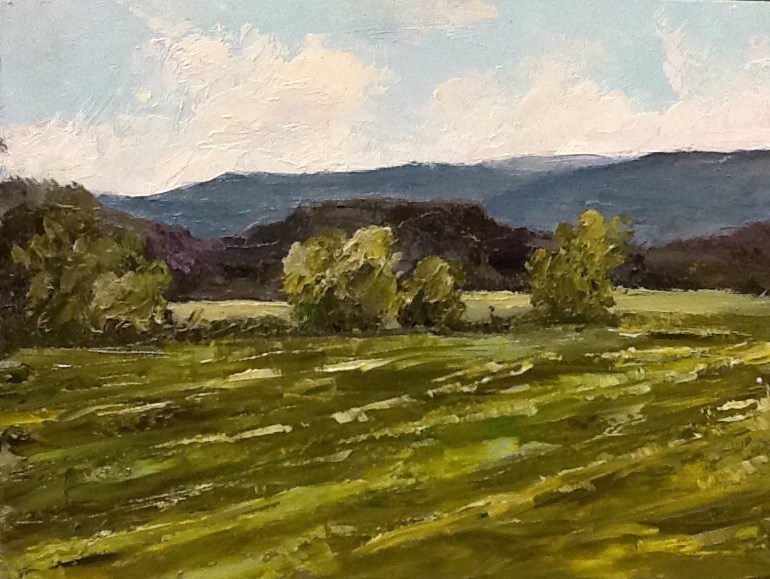 """Hay Fields"" original fine art by Bonnie Griffith"