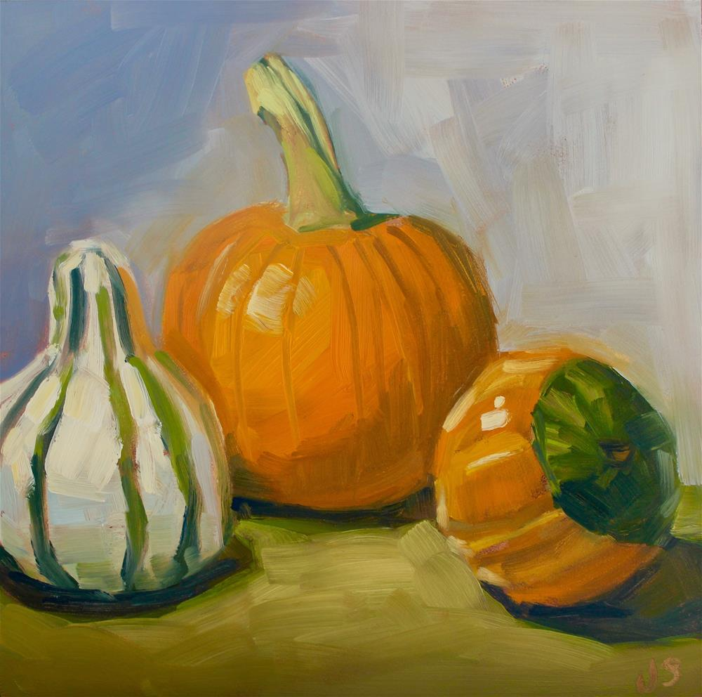 """Gourd Trio"" original fine art by Jamie Stevens"