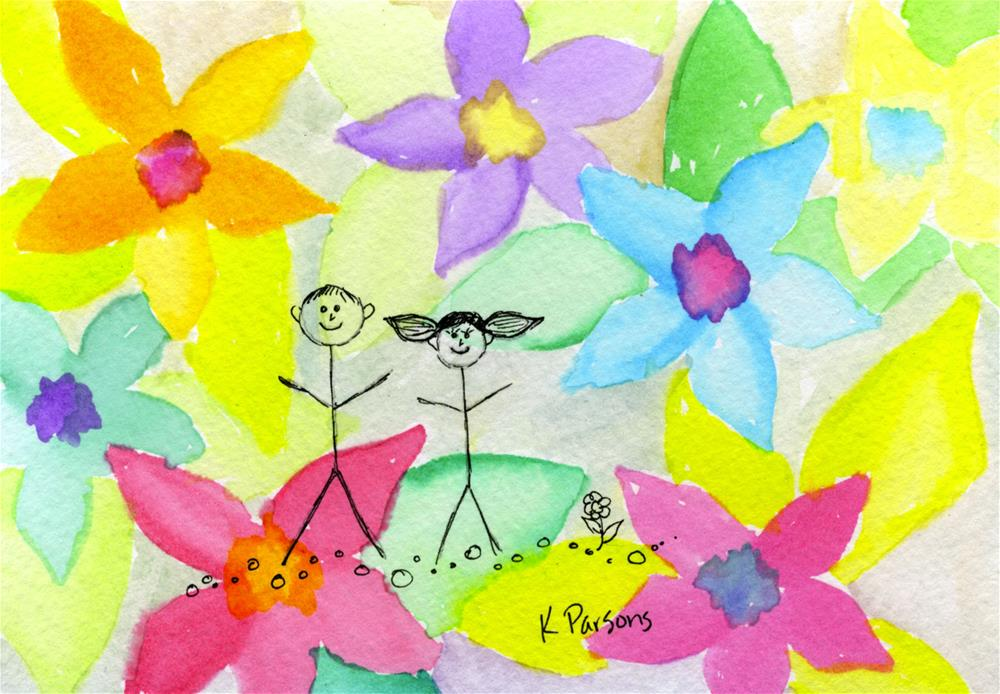 """Flowers all Around"" original fine art by Kali Parsons"