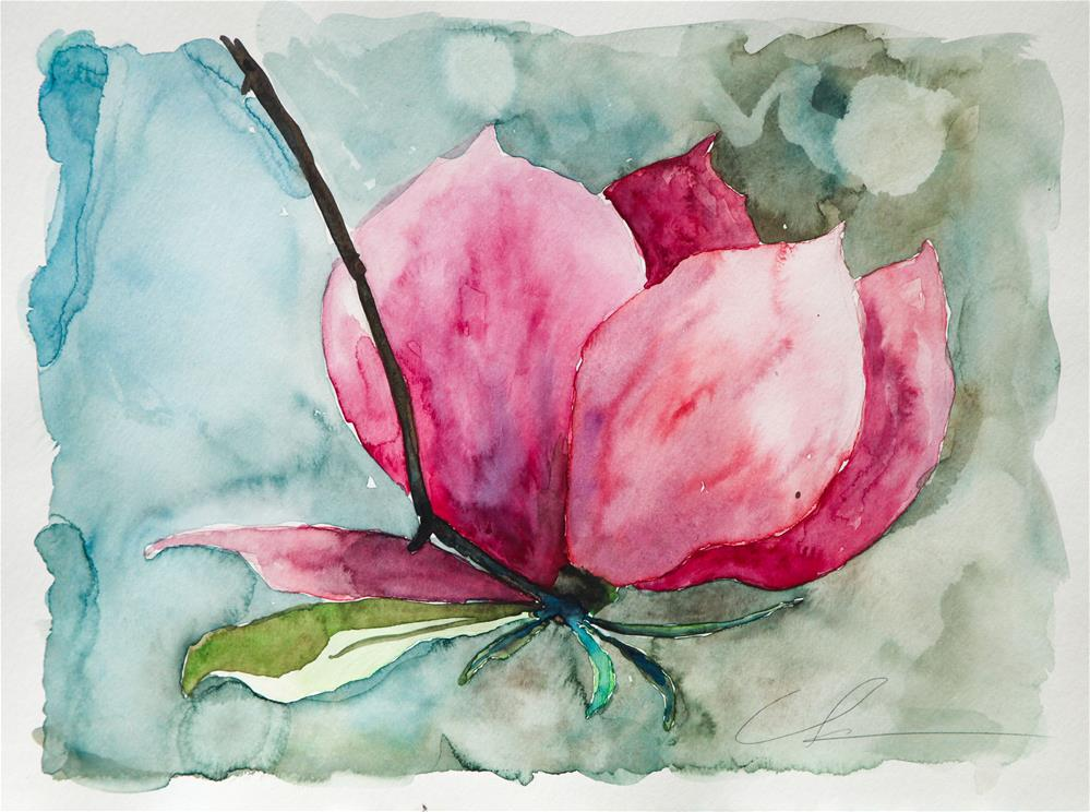 """Saucer Magnolia"" original fine art by Clair Hartmann"