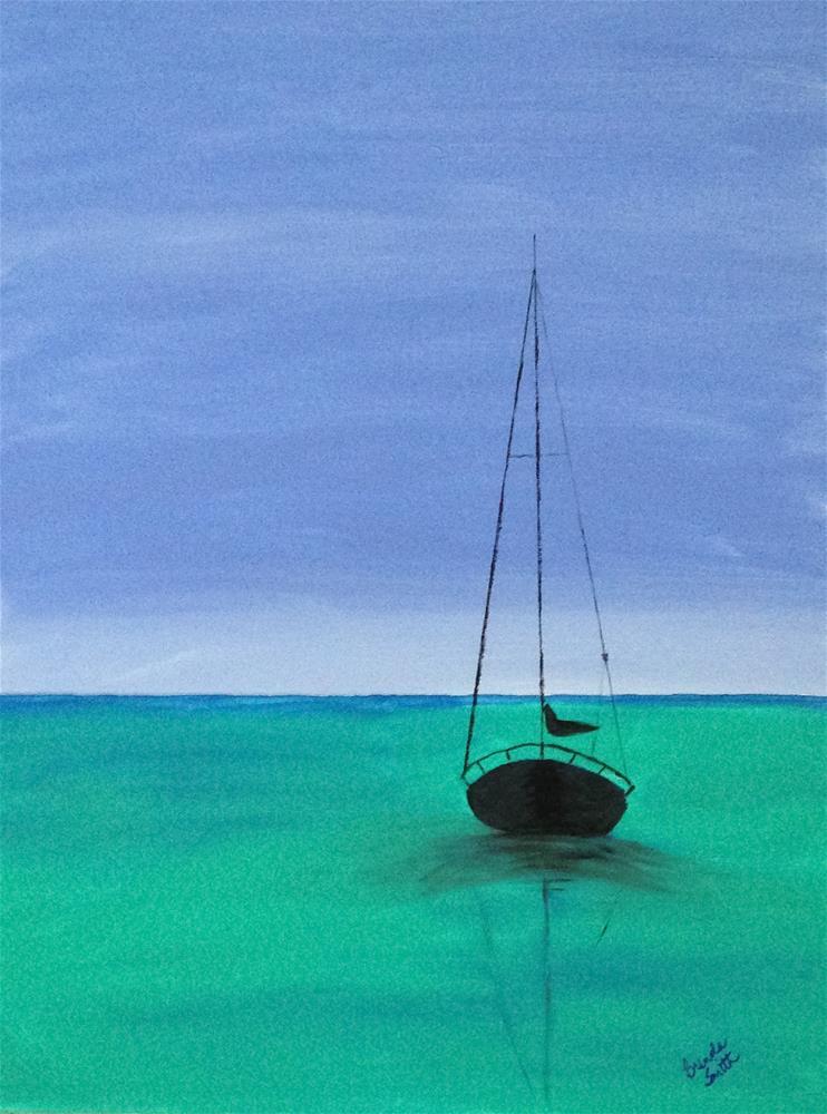 """""""Anchored in Peace"""" original fine art by Brenda Smith"""