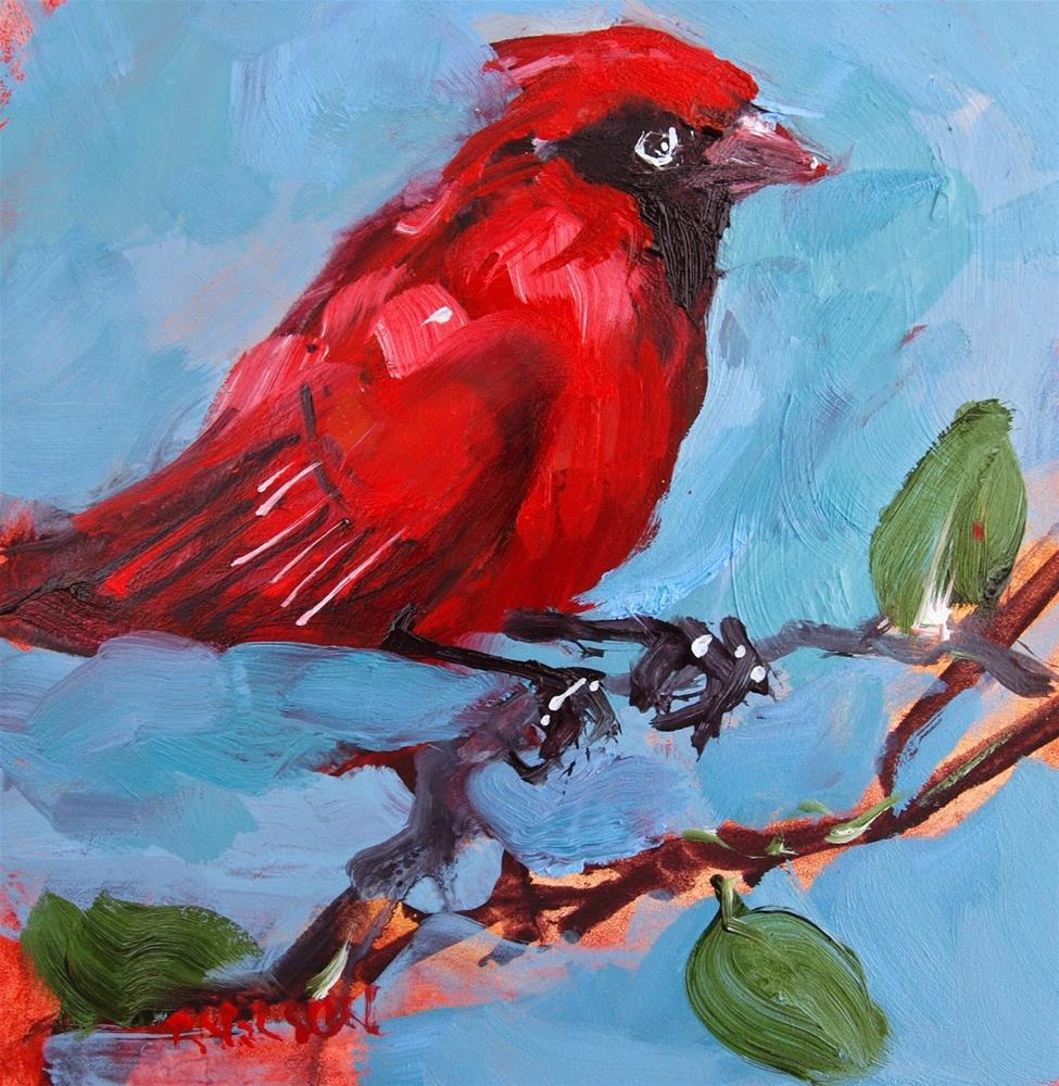 """Cardinal"" original fine art by Rick Nilson"