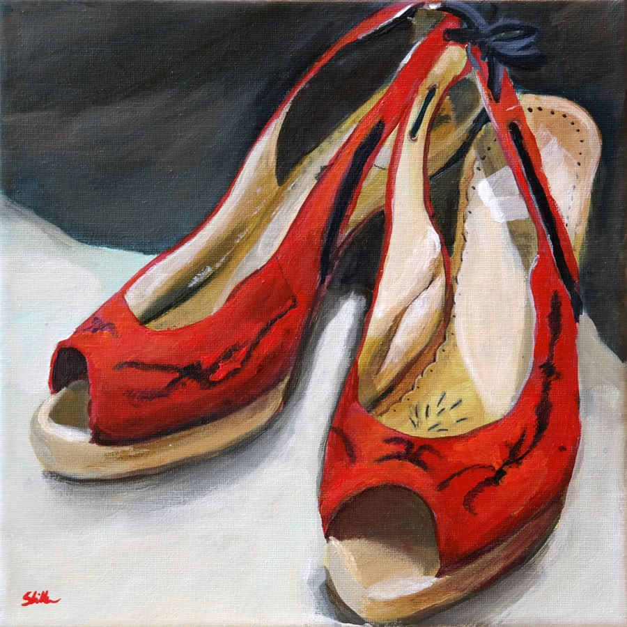 """1300 Shoe does Ah!"" original fine art by Dietmar Stiller"