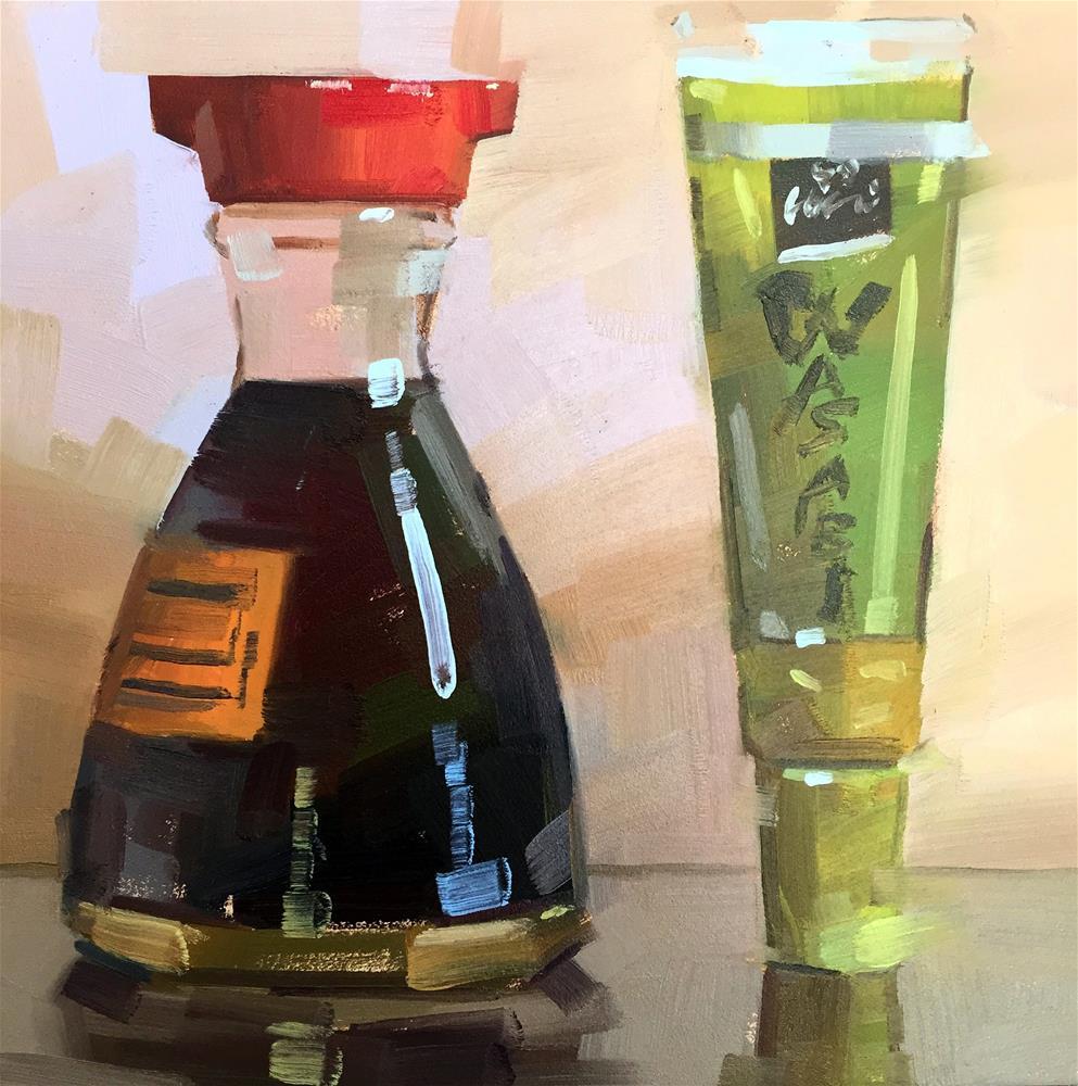 """Sushi Friends"" original fine art by Jiyoung Kim"